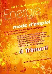 Festival : Energie mode d'emploi à Trimurti. 1er au 4 novembre 2012 dans developpement personnel affiche-a4-energie-mode-demploi2-211x300
